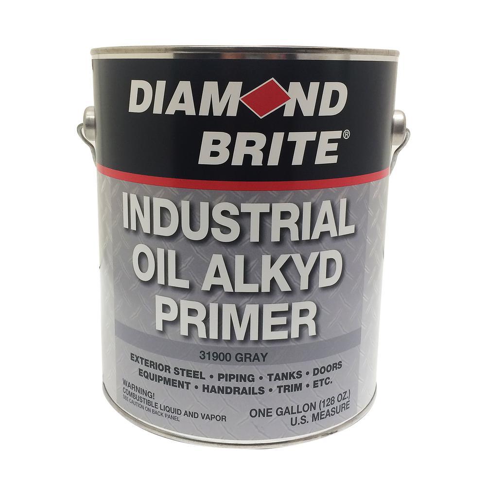 Diamond Brite Paint 1 gal  Gray Industrial Oil Alkyd Exterior Primer