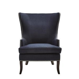 Strange Home Decorators Collection Moore Midnight Blue Fabric Wing Gamerscity Chair Design For Home Gamerscityorg