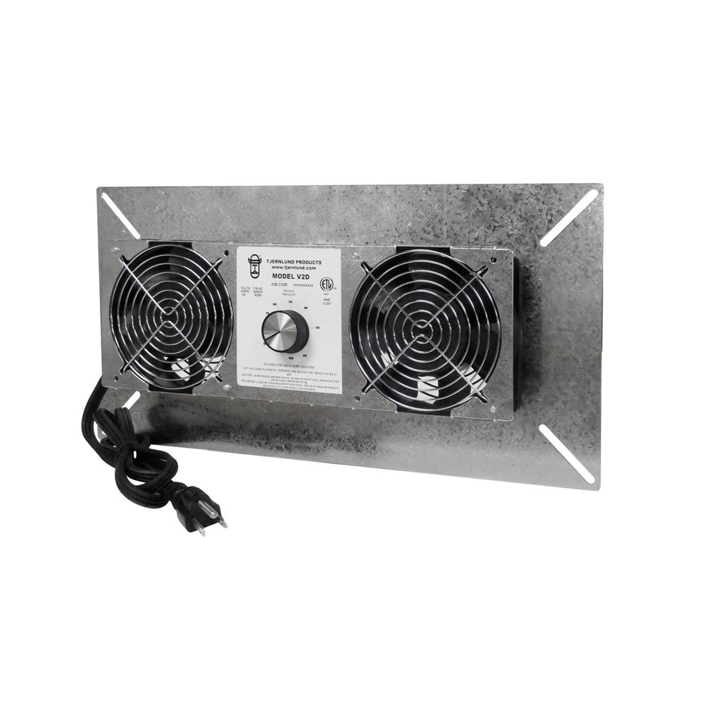 18 in. x 9 in. Silver Galvanized Steel Crawl Space Fan