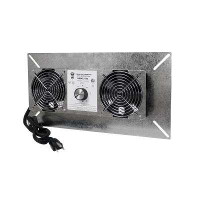 18 in. x 9 in. Silver Galvanized Steel Crawl Space Fan Vent