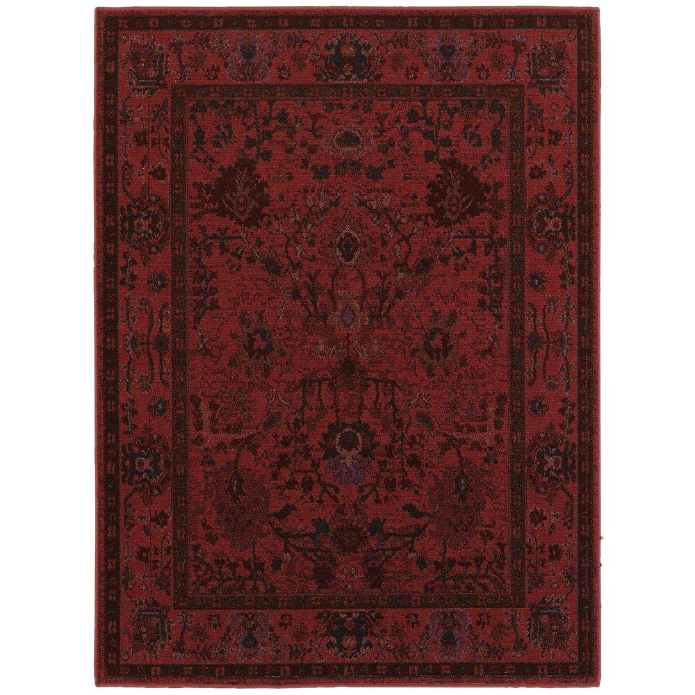 Home decorators collection overdye red 1 ft 10 in x 3 ft for Home accents rug collection