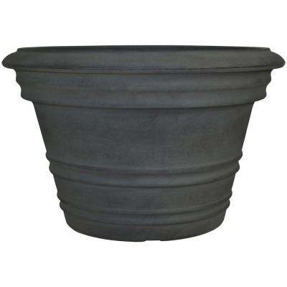 16 in. Copper Victoria Poly Single Flower Pot Planter