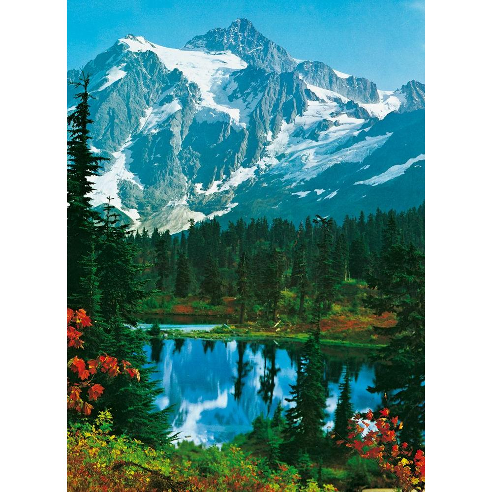 Ideal Decor 100 in x 72 in Mountain Peak Wall Mural DM307 The