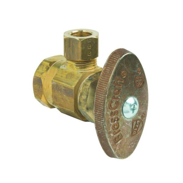 1/2 in. FIP Inlet x 3/8 in. Comp Outlet Multi-Turn Angle Valve