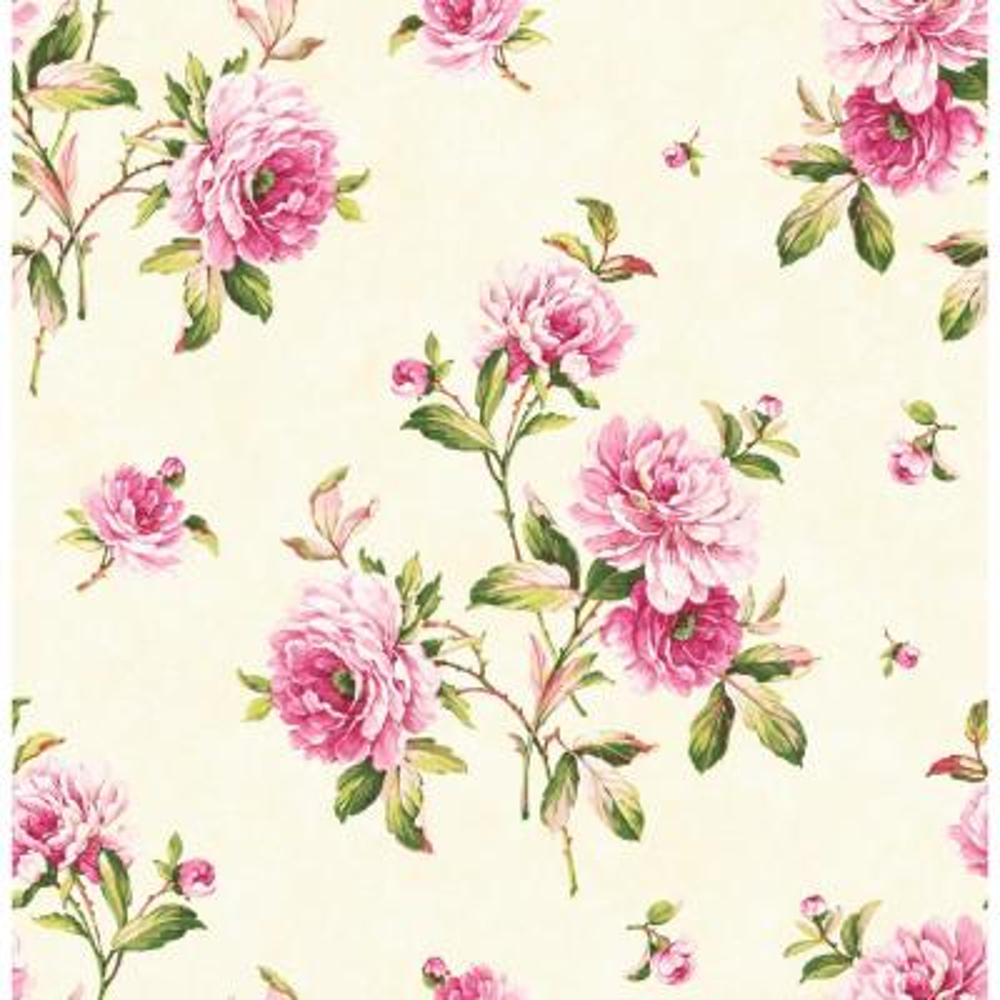 Adele Pink Peony Wallpaper
