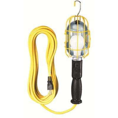 Incandescent Trouble Light with Metal Cage