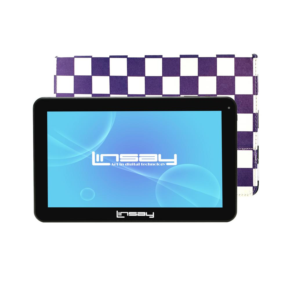LINSAY 10.1 in. 2GB RAM 16GB Android 9.0 Pie Quad Core Tablet with Purple Square Case was $174.99 now $84.99 (51.0% off)