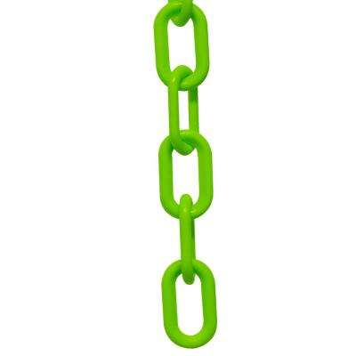3 in. (#10, 76 mm) x 25 ft. Safety Green Plastic Chain