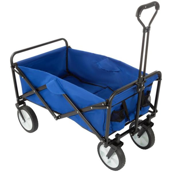 Collapsible Utility Wagon with Telescoping Handle