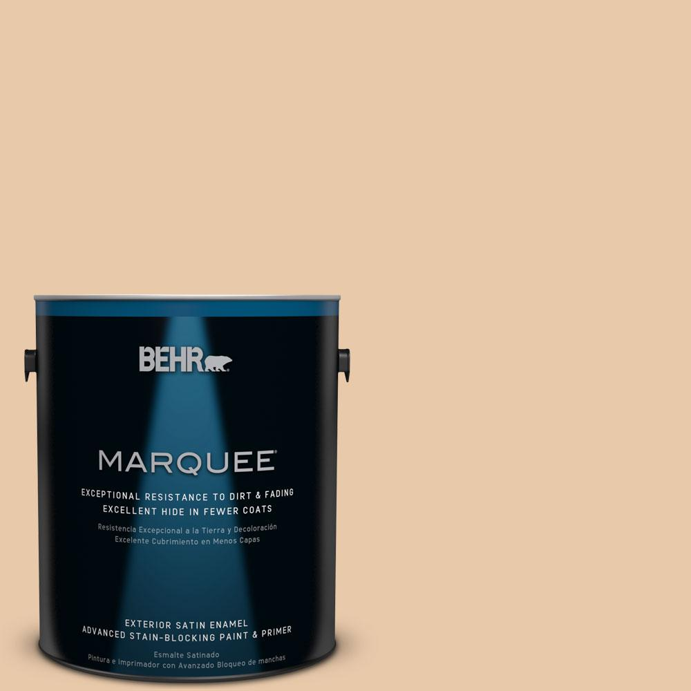 BEHR MARQUEE 1-gal. #S250-3 Honey Nougat Satin Enamel Exterior Paint
