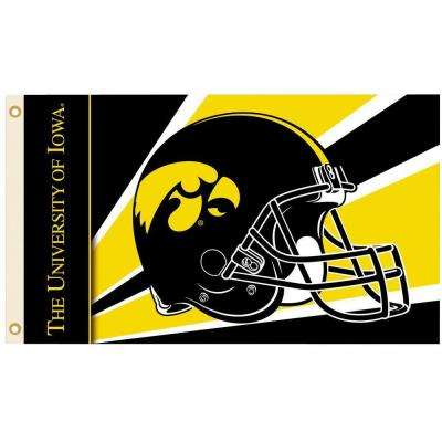 NCAA 3 ft. x 5 ft. Helmet Iowa Flag