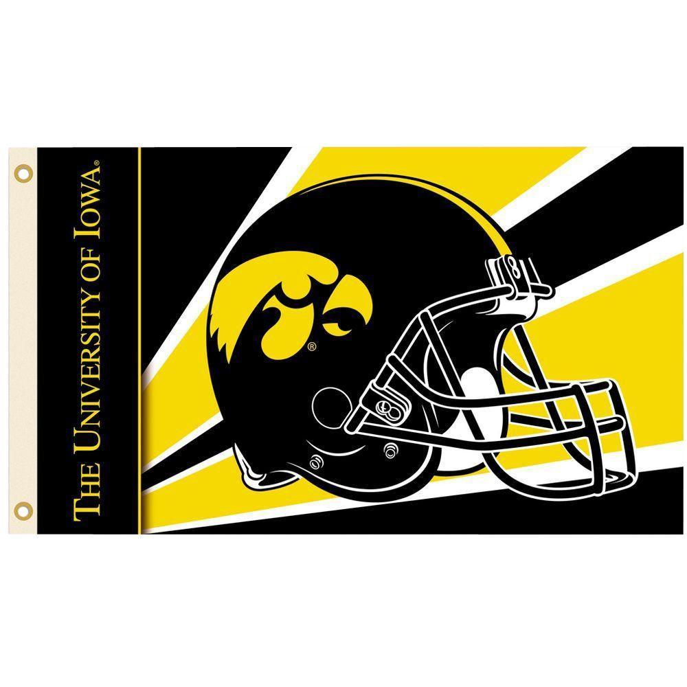 NCAA 3 ft. x 5 ft. Helmet Iowa Flag
