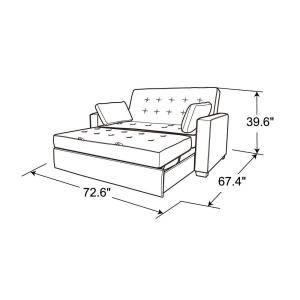 Outstanding Serta Augustus Microfiber Convertible Sofa Queen Size Bed Camellatalisay Diy Chair Ideas Camellatalisaycom