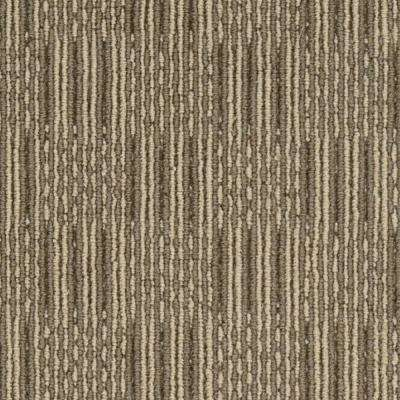 Carpet Sample - Upland Grid - Color Mochachino Loop 8 in. x 8 in.