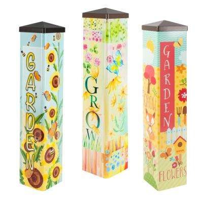 20 in. Tall Assorted Designer Garden Posts (3-Set)