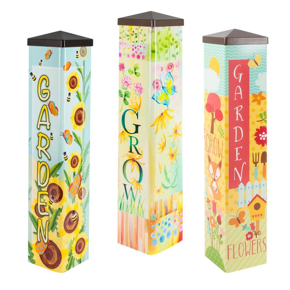 20 in. Tall Assorted Designer Garden Posts (3-Set)