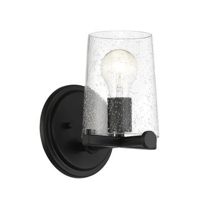 Matteson 1-Light Matte Black Wall Sconce