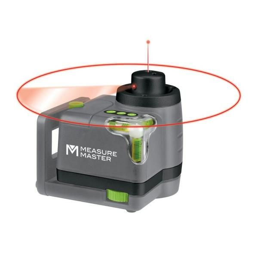 Measure Master 50 ft. Horizontal/Vertical Rotary Laser Level Kit (4-Piece)