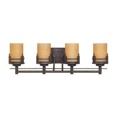Mission Ridge 4-Light Warm Mahogany Wall Mount Vanity Light