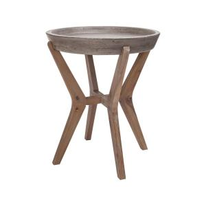 Internet 300224465 An Lighting Tonga Waxed Concrete And Silver Side Table