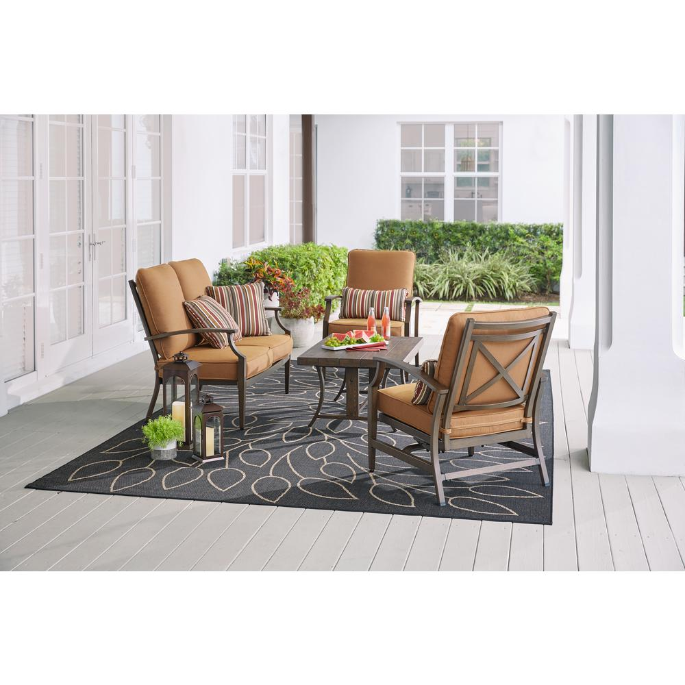 North Lake 4-Piece Aluminum Patio Deep Seating Set with Sunbrella Spectrum