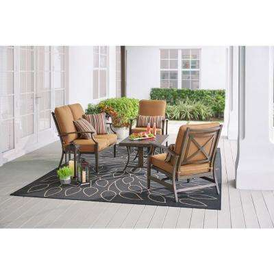 North Lake 4 Piece Aluminum Patio Deep Seating Set With Sunbrella Spectrum Sierra Cushions