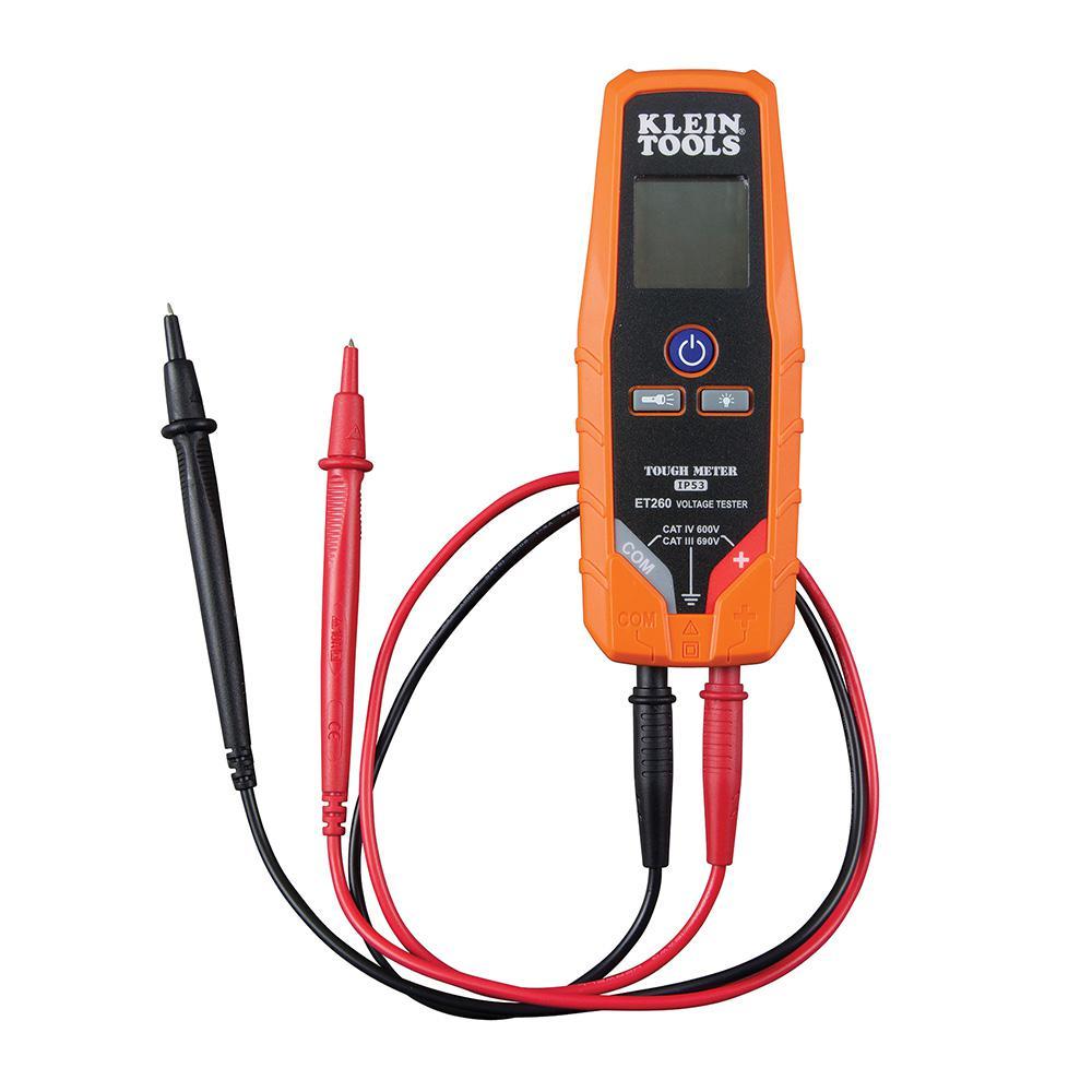 Cool Klein Tools Ac Dc Voltage Continuity Tester Et260 The Home Depot Wiring Digital Resources Sapredefiancerspsorg