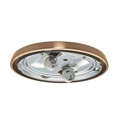 Antique Brass CFL Low Profile Fitter