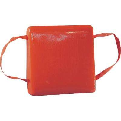 15.5 in. x 15.5 in Type IV Buoyant Boat Cushion in Orange