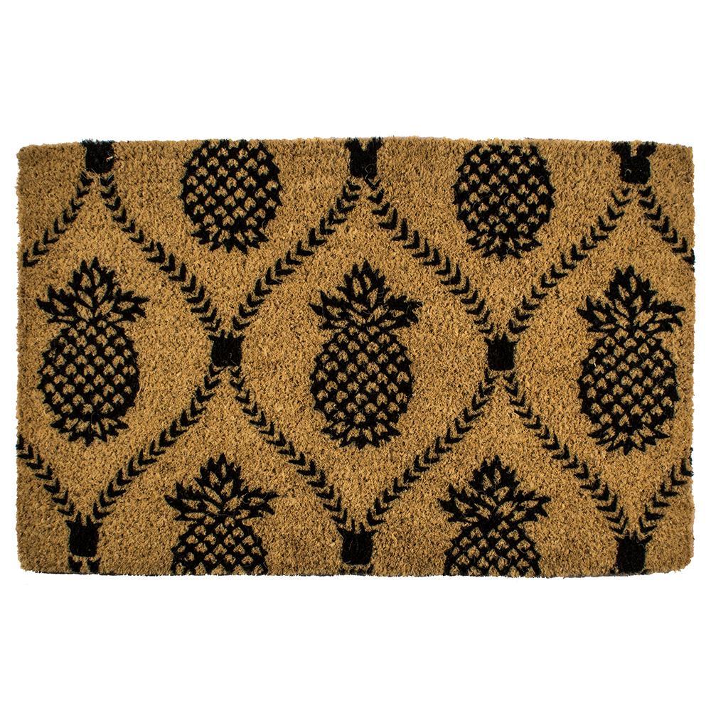 Pineapple Trellis 22 in. x 35 in. Hand Woven Coconut Fiber Door Mat