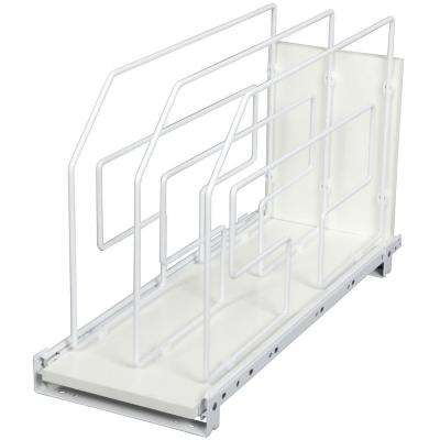20 in. H x 9 in W x 22 in. D Pull-Out Tray Divider Cabinet Organizer in White