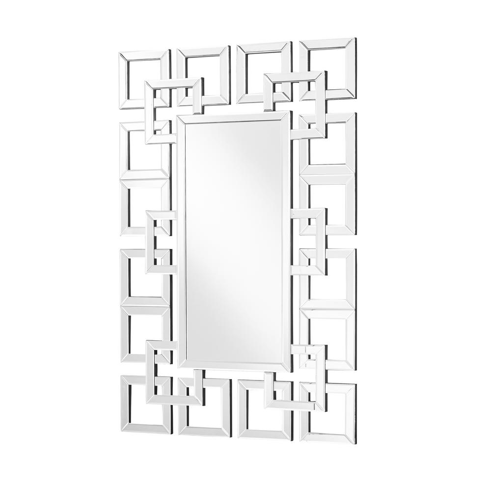 Emory 31.5 in. Contemporary Rectangle Mirror with Clear MDF Frame; Rectangle