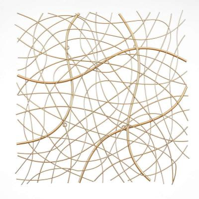 Large Gold Abstract Square Metal Wall Art