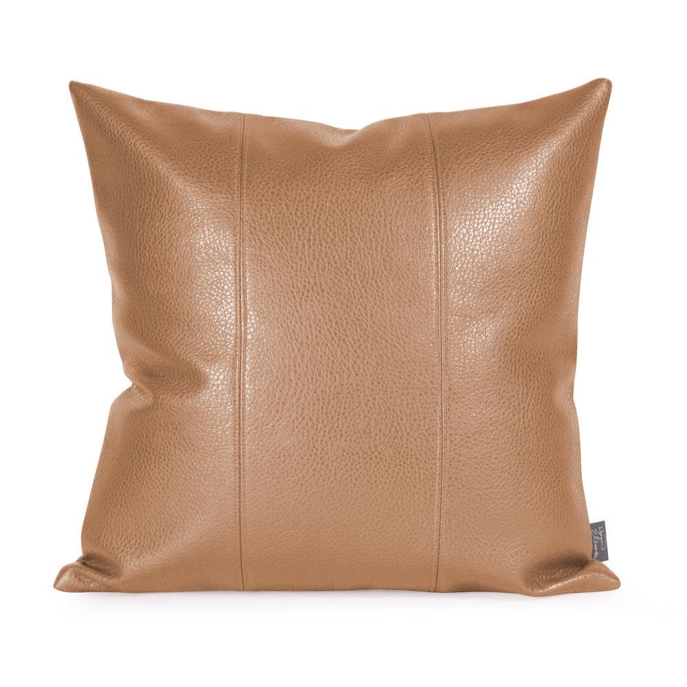 Avanti Brown Bronze 16 in. x 16 in. Decorative Pillow
