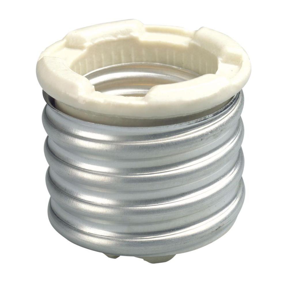 Leviton 660-Watt White Mogul to Medium Porcelain Lampholder Socket Adapter