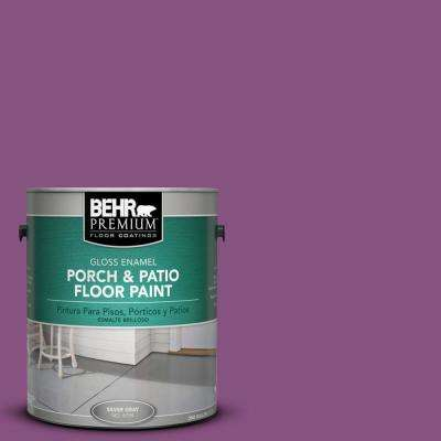 1 gal. Home Decorators Collection #HDC-MD-07 Dynamic Magenta Gloss Interior/Exterior Porch and Patio Floor Paint