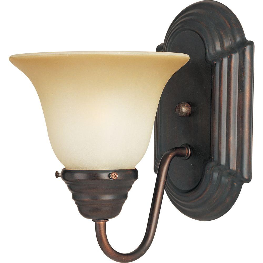 Maxim Lighting Essentials 1-Light Oil-Rubbed Bronze Sconce