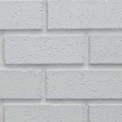 Dove White 8 in. x 8 in. x 3/4 in. Faux New Brick Stone Sample