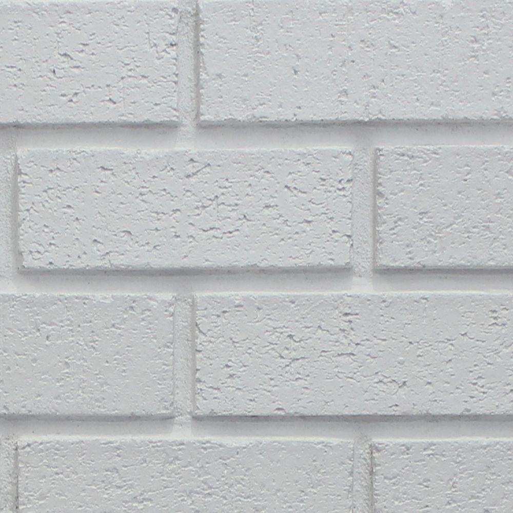 Dove White 8 in. x 8 in. x 3/4 in. Faux New Brick Stone Sample