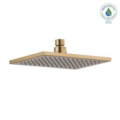 Vero 1-Spray 8.69 in. Fixed Showerhead in Champagne Bronze