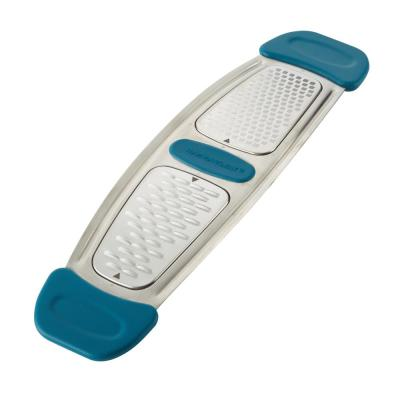 Marine Blue Stainless Steel Multi-Grater with Silicone Handles