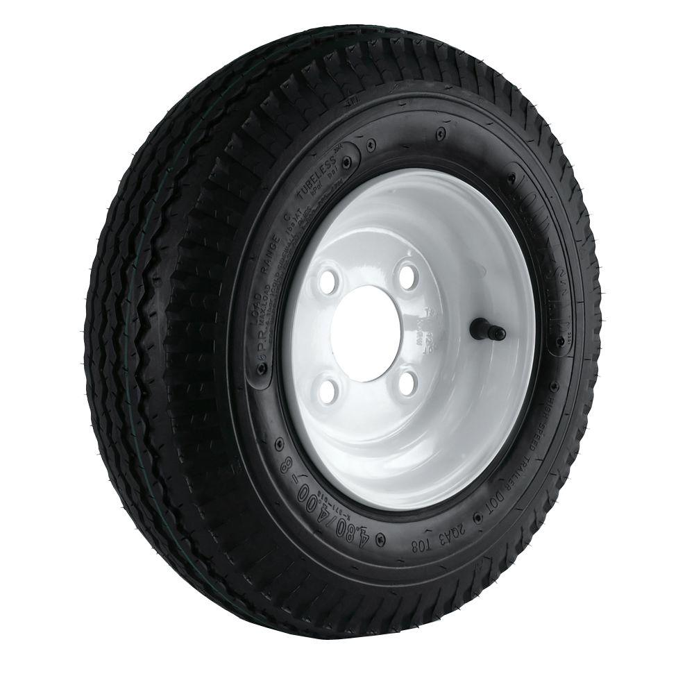 Martin Wheel 480/400-8 Load Range C 4-Hole Trailer Tire a...