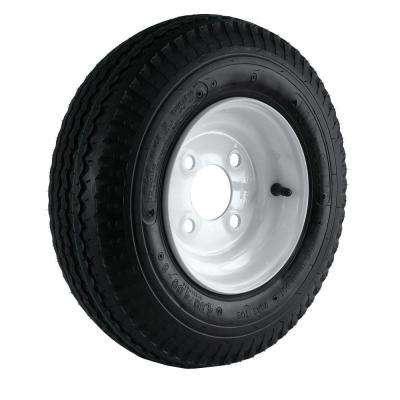 480/400-8 Load Range C 4-Hole Trailer Tire and Wheel Assembly