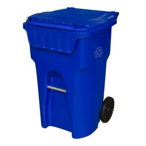 Otto Edge 65 Gal Blue Wheeled Recycling Container Msd65e