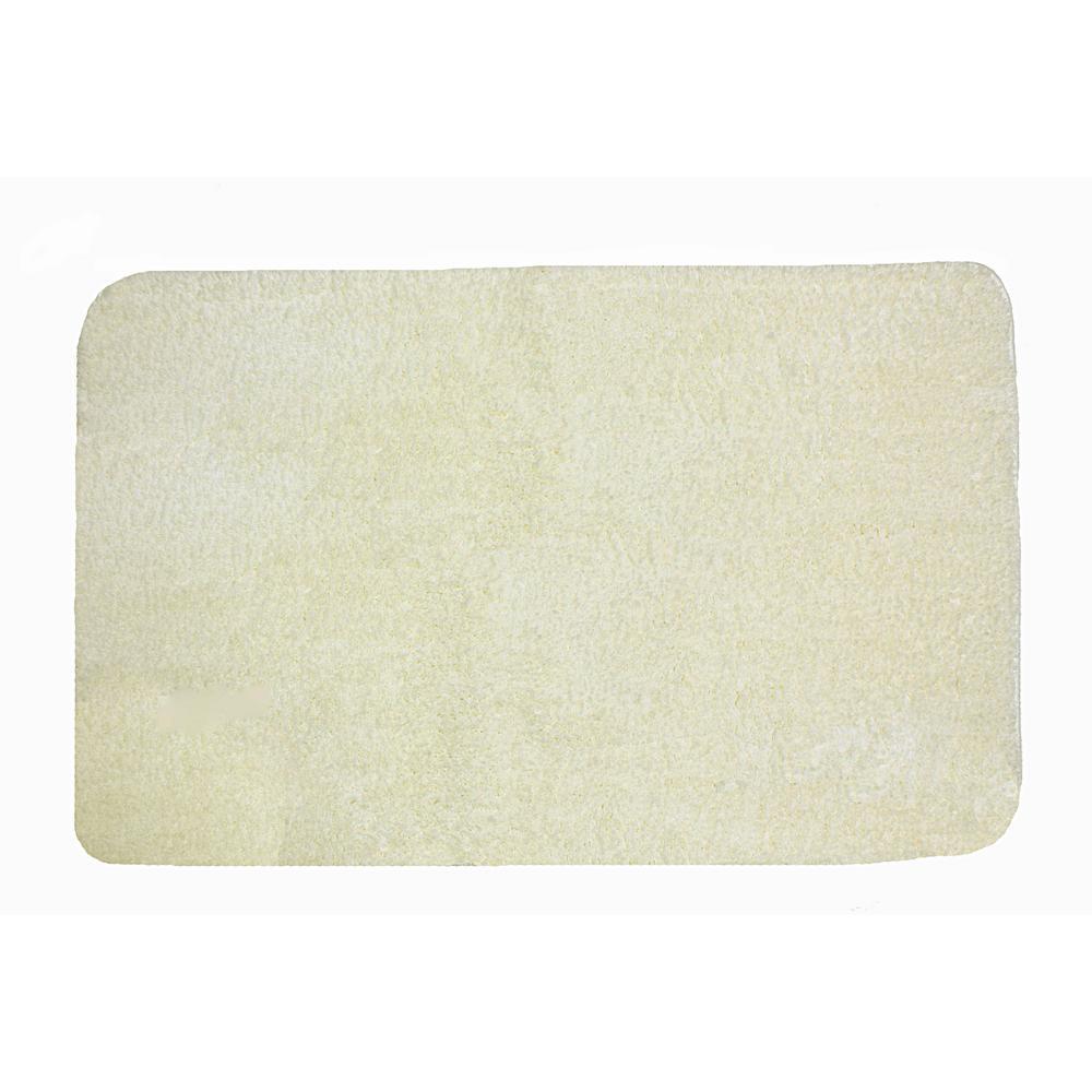 40 in. x 24 in. Polyester Bath Mat in Vanilla