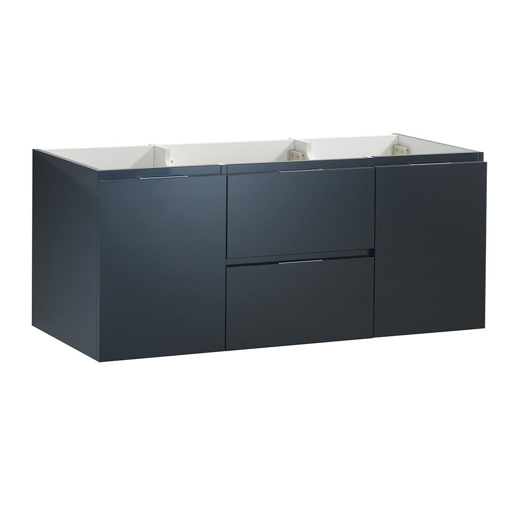 Valencia 48 in. W Wall Hung Bathroom Double Vanity Cabinet in Dark Slate Gray