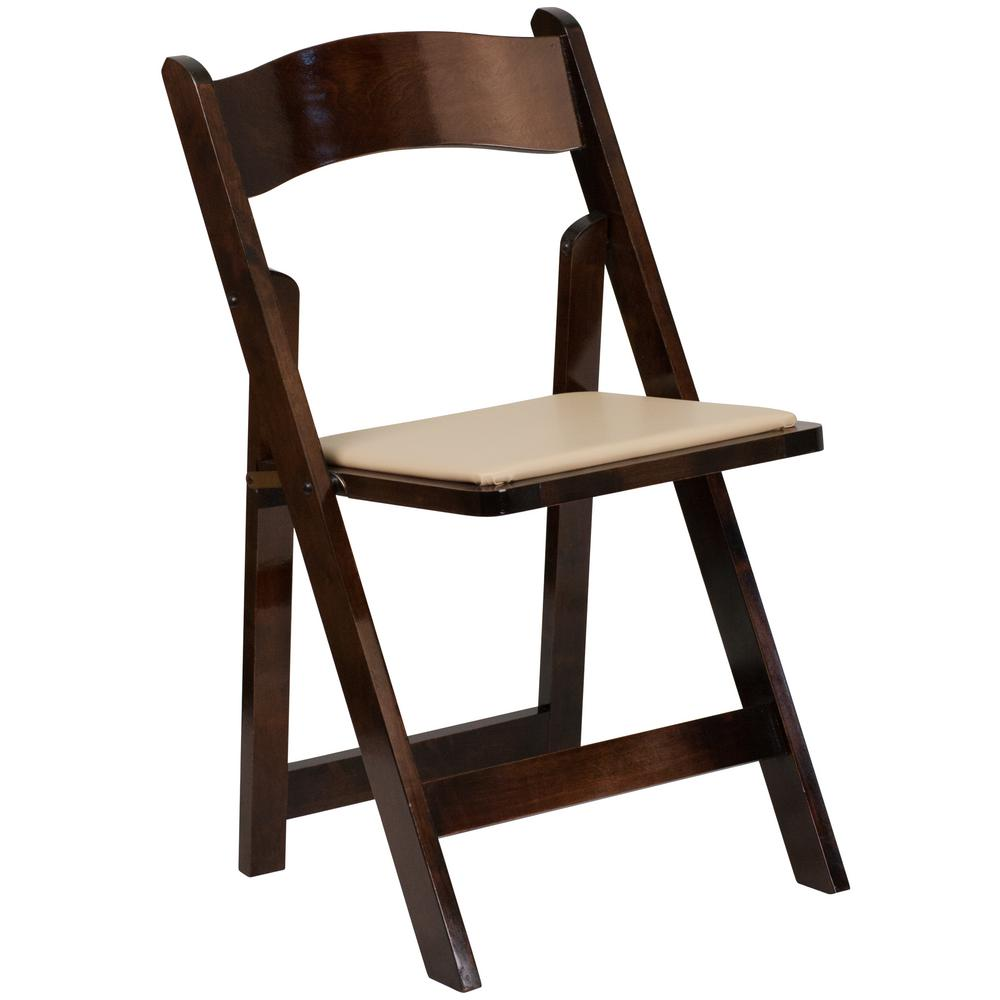 This review is fromHercules Series Fruitwood Wood Folding Chair with Vinyl Padded Seat  sc 1 st  Home Depot & Flash Furniture Hercules Series Mahogany Wood Folding Chair with ...