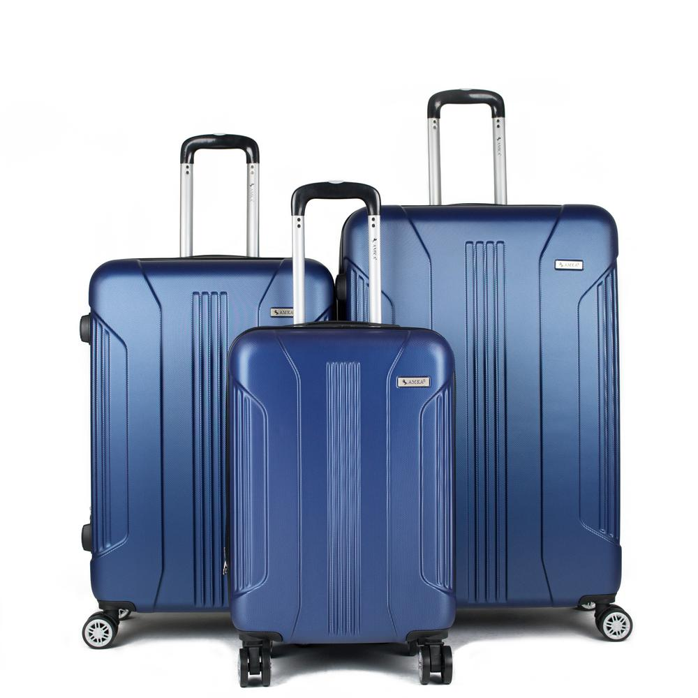 Sierra Navy 3-Piece Expandable Hardside Spinner Luggage with TSA Lock