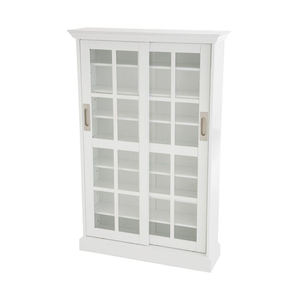 Southern Enterprises White Media Storage Ms1072t The Home Depot
