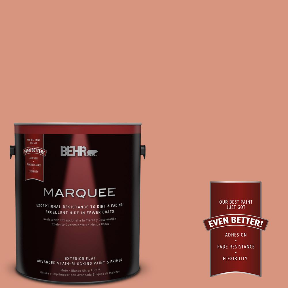 BEHR MARQUEE 1-gal. #BIC-17 Tropical Blooms Flat Exterior Paint